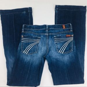 7 For All Mankind Dojo Flare Leg Jeans Size 25